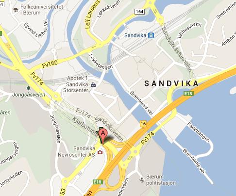 kart sandvika storsenter Kontakt Senterklinikken AS i Sandvika Storsenter, Bærum kart sandvika storsenter